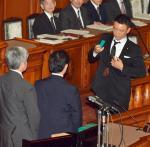 【安らかに】山本太郎議員が一人牛歩!!昨日お亡くなりになった自民党を丁重に弔う