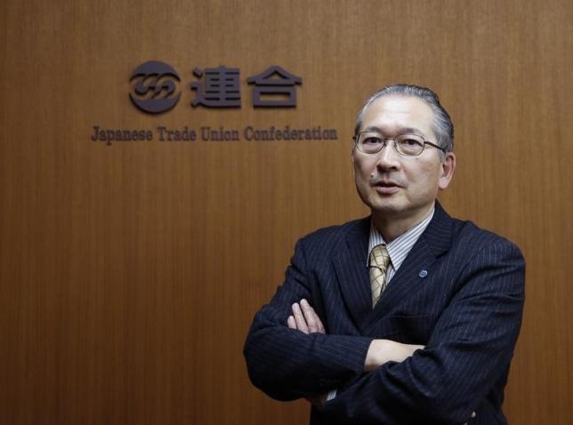 1月13日、合の神津里季生会長(写真)は、政府が目指すデフレ脱却に向け、物価上昇に先駆けた賃上げが必要との見方を示した。(2016年 ロイター/Toru Hanai)