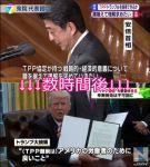 【あべしっ!!】安倍総理「(TPP)腰を据えて理解を求める」⇒数時間後⇒トランプ大統領「TPPから永久に離脱」と署名