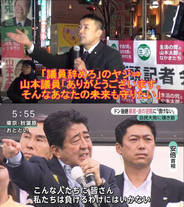 【器の差】安倍総理と山本太郎議員の非支持者への対応が違いすぎる!「議員ヤメロ」⇒山本議員「ありがとうございます。そんなあなたの未来も守りたい」