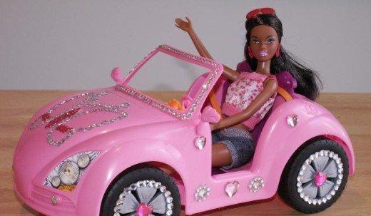 barbie-en-auto