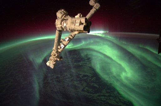 las luces de la aurora astralis vistas desde el espacio