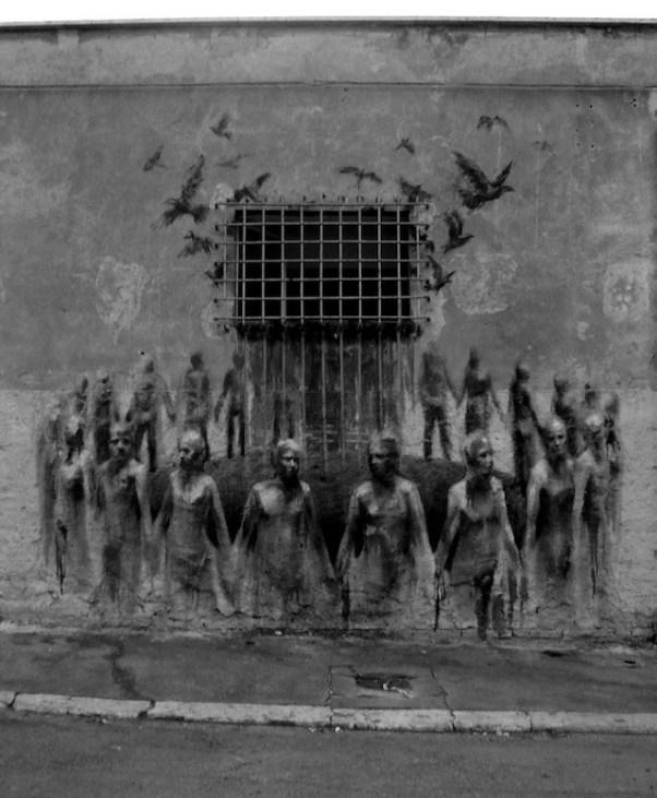 grafitti de Borondo, España