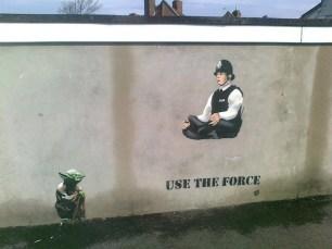 graffiti de JPS. usa la fuerza-yoda