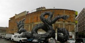 graffiti de ROA en ciudad de méxico