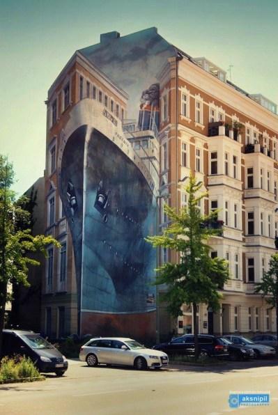 graffiti increíble en berlín, alemania