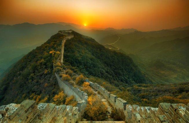 La naturaleza siempre relama lo que le pertenece, y en este caso se trata de una fracción de la Gran Muralla China