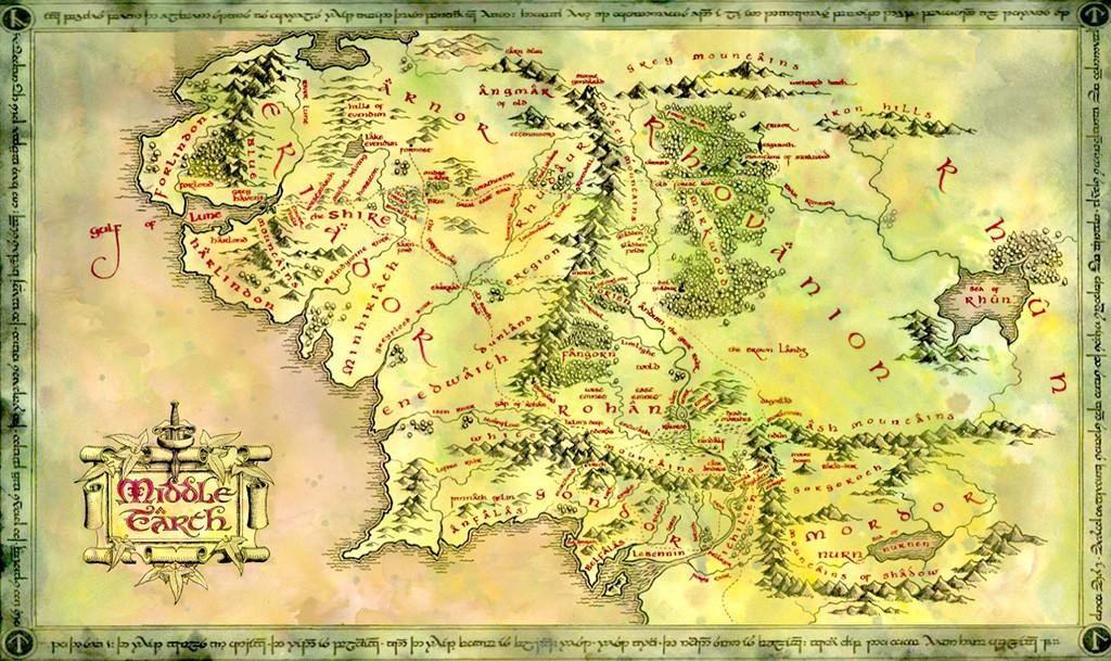 mapa de la tierra media ile ilgili görsel sonucu