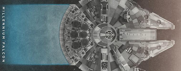 afiche-ilustración-star-wars-millenium-falcon