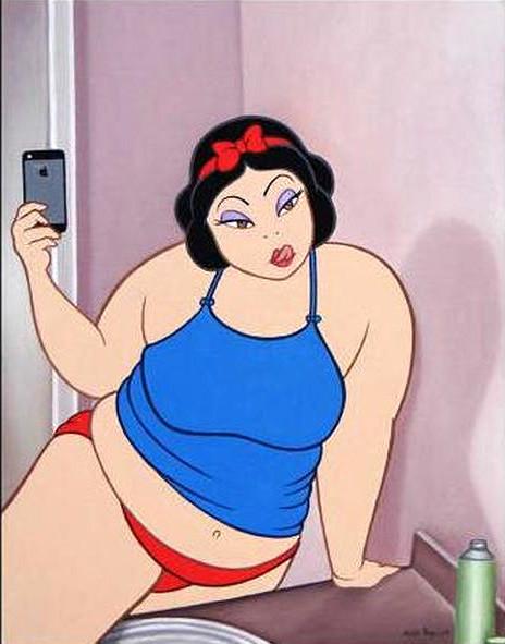 rodolfo-loaiza-disney-blancanieves-obesa-selfie