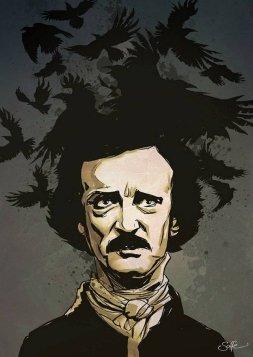 ilustracion-edgar-allan-poe-cuervo-soffe
