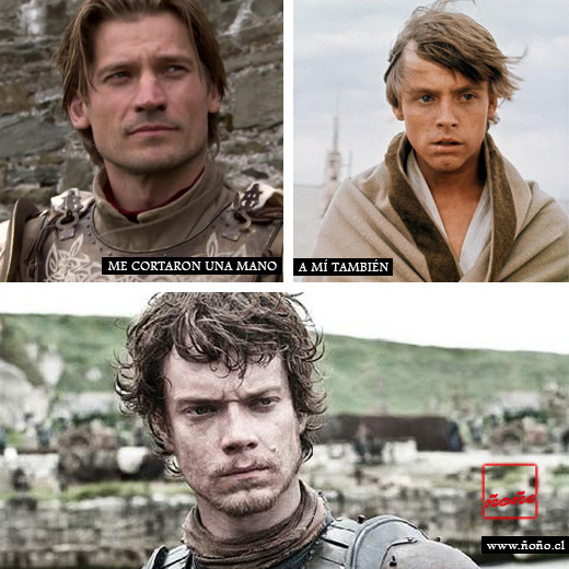 star-wars-LUKE-SKYWALKER-vs-game-thrones-JAIME-LANNISTER-theon-greyjoy