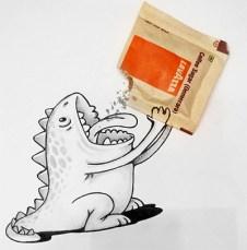 caricatura-dinosaurio-come-azucar-real-manik-n-ratan
