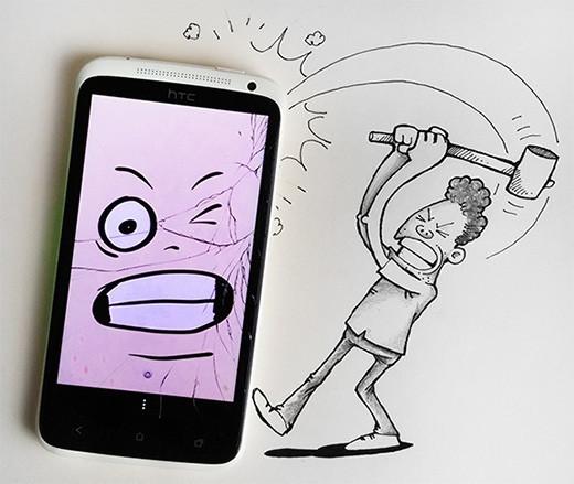 caricatura-golpea-smartphone-real-manik-n-ratan
