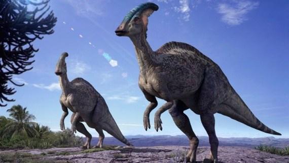 ilustracion-dinosaurio-Parasaurolophus-ñoño