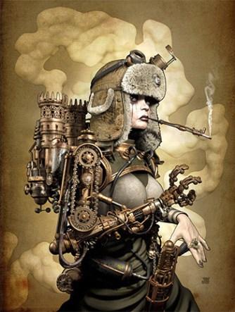 ilustracion-steampunk-mujer-brazo-mecanico