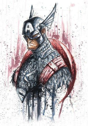 capitan-america-bad-ass-acuarela