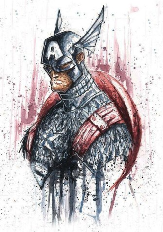 capitan-america-bad-ass-acuarela