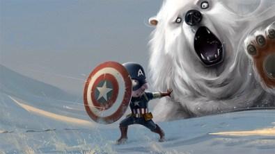 capitan-america-caricatura-oso-polar