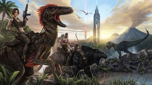 dinosaurios-dragones-videojuego-ark-ilustracion