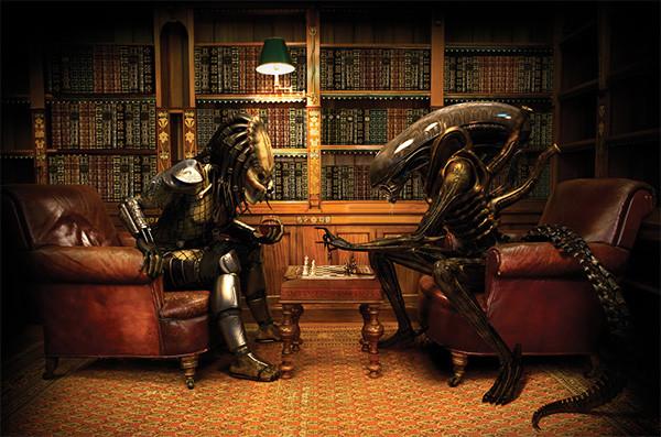 depredador-alien-juegan-ajedrez