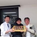 総勢19名 出張寿司パーティー メニュー  経営者交流会