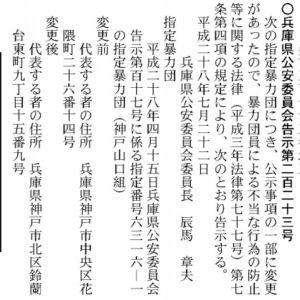 官報神戸山口組