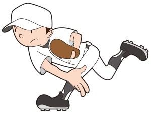 ボールを投げたピッチャー
