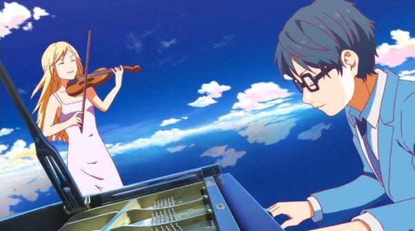 Your lie in april anime películas música
