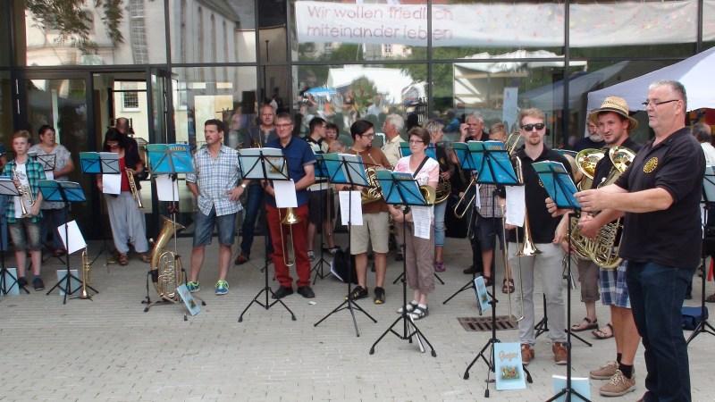 Serenade zum Tag der Sachsen am 03.09.2016 in Limbach-Oberfrohna. Foto: W. Bunzel