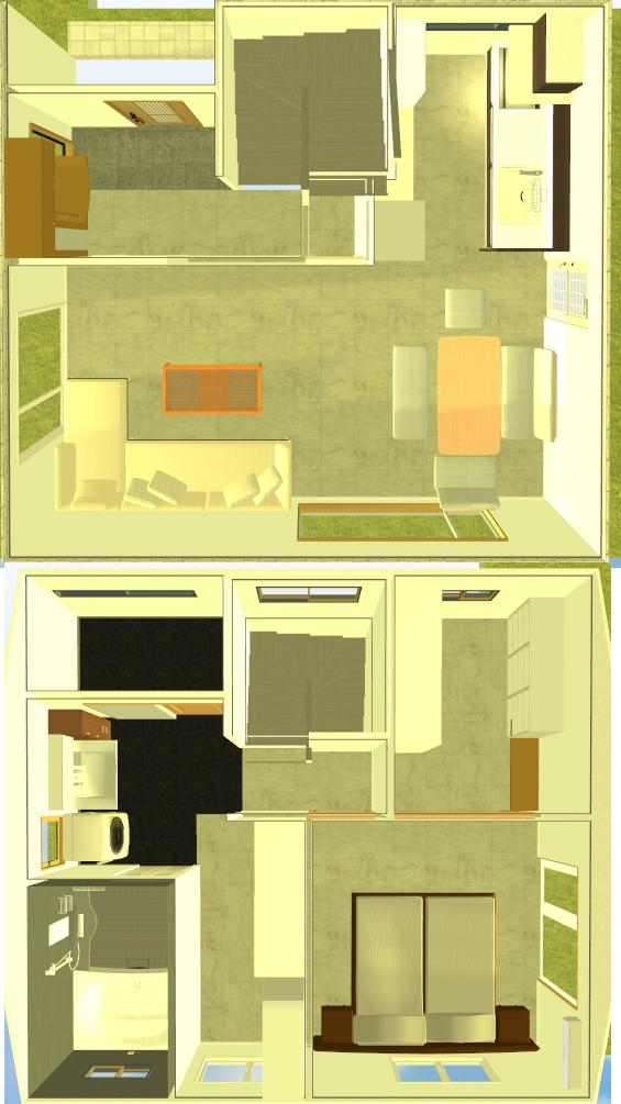 正方形の家の間取り画像
