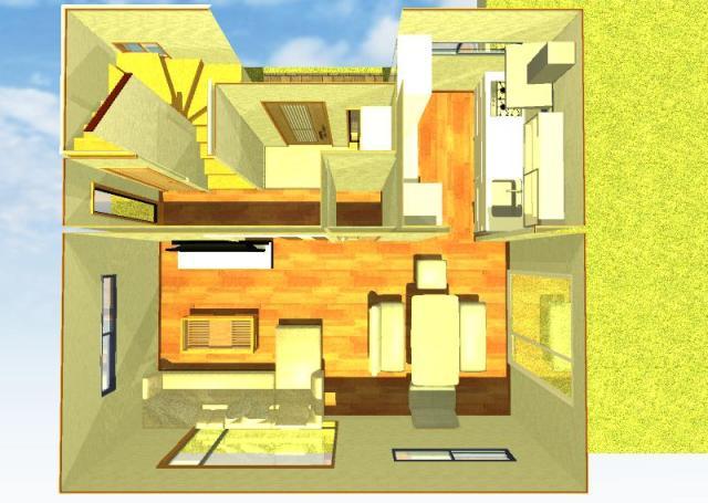 狭小住宅間取り図1階画像