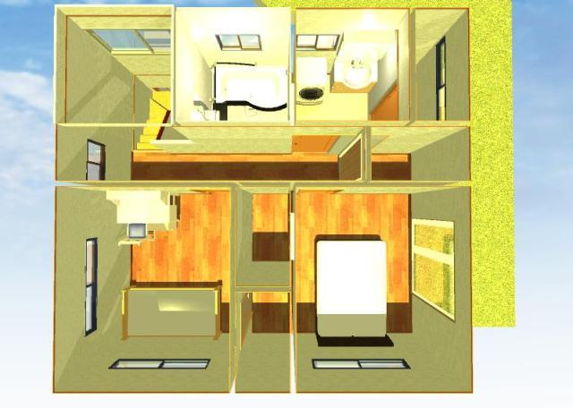 狭小住宅間取り図2階画像