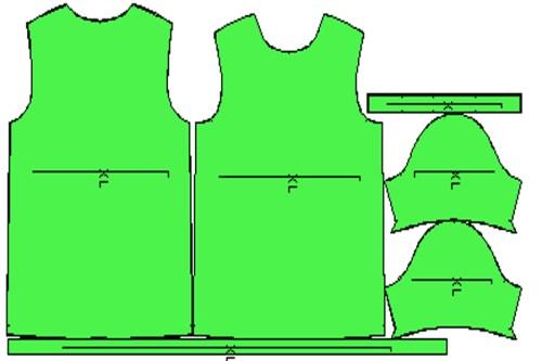 Πατρόν μπλούζα ανδρική κοντό μανίκι XL
