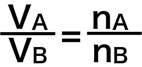 分体積比とモル分率