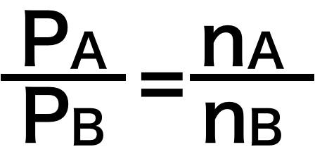 分圧比とモル分率