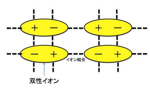 双性イオン,イオン結晶