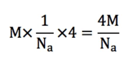 面心立方格子の質量