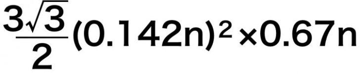 炭素の黒鉛の繰り返し単位の体積