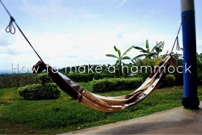 カーテンで手作りハンモック!自宅の庭で寝る!寝方・付け方・使い方