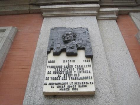 Lápida plaza Chamberí