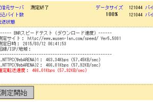 ワンダーリンクLTESIMの速度制限後の通信速度