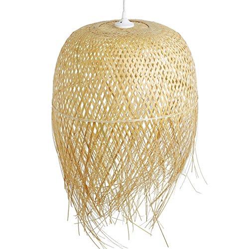 Schlafzimmerlampe Da Nang Lampe aus Bambus als Hngelampe Pendelleuchte fr Wohnzimmer