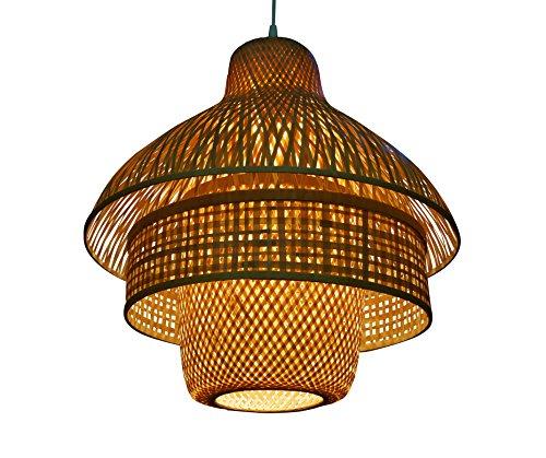 Zimmerlampe Can Tho dreiteilig Lampe aus Bambus als