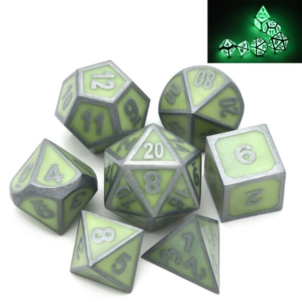 Metal Dice Set - Enchanted Green