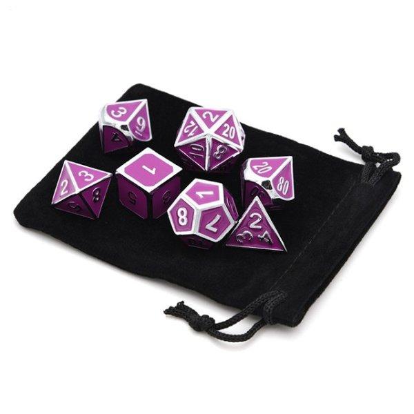 Metal Dice Set - Cultist Purple
