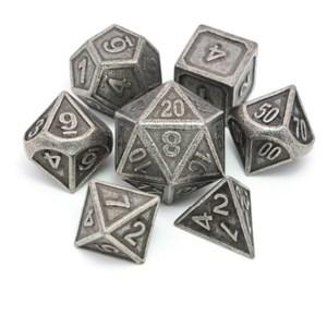 Metal Dice Set - Dwarven Forge - Silver