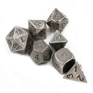 Metal Dice - Iron Forge Silver