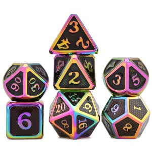 Metal Dice – Dragon Hide – Scorched Earth