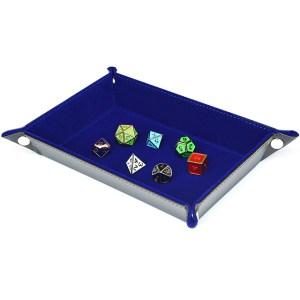Dice Tray Rectangle Tray w/ Blue Velvet